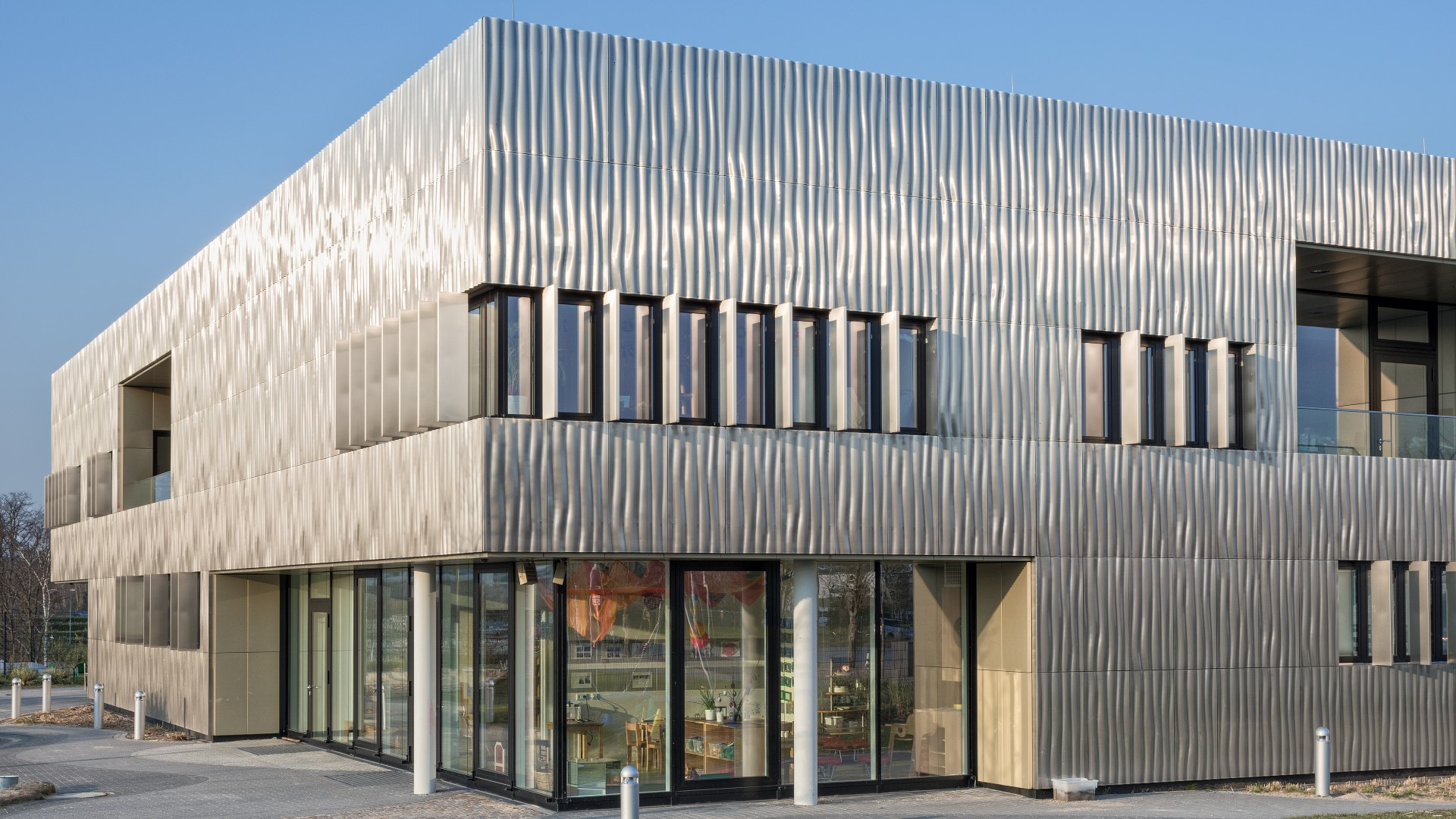 Award Winning Metal Facade Thyssen Krupp Day Nursery