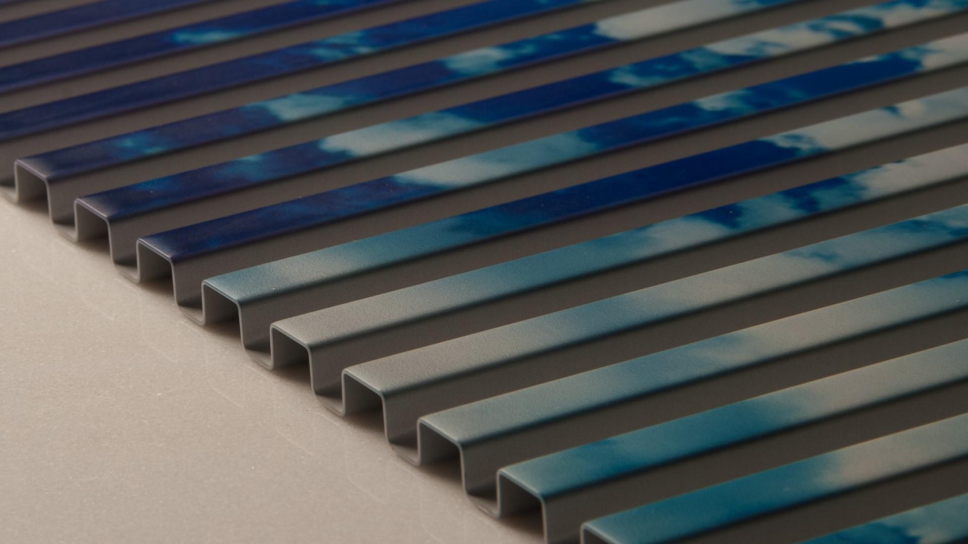 Aluminium Stegplatte mit Fotomotiv bedruckt