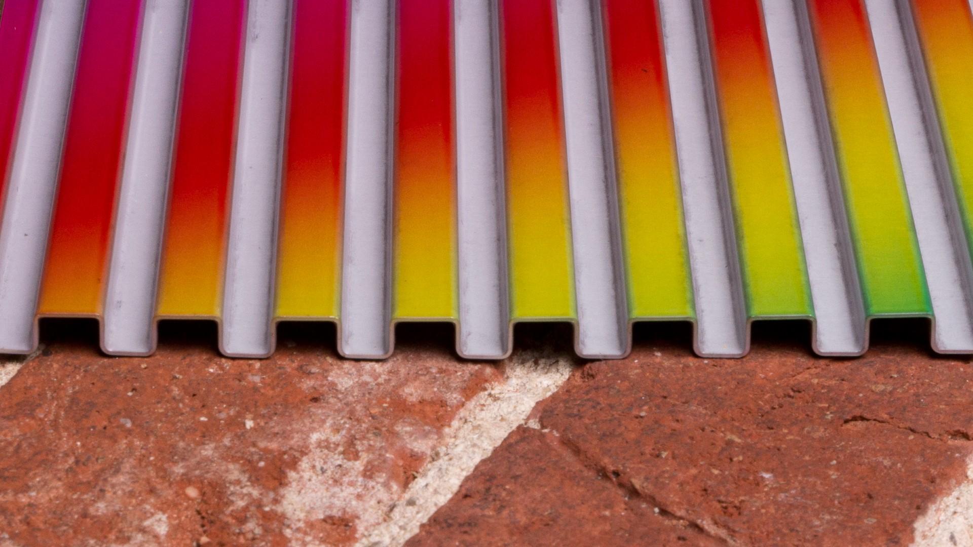 Aluminium Stegplatte partiell bedruckt